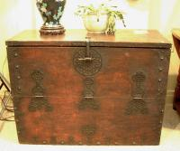 Early Chinese wood storage chest c1800
