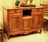 Period Country French cherry buffet with drawers c1780