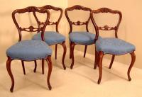 Shell carved Victorian mahogany side dining chairs c1875