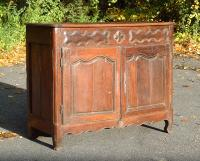 Antique Country French Louis XV Hand Carved provincial buffet c1750