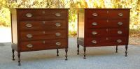 Wallace Nutting Furniture Sheraton style chests or dresser match pair