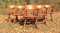 Heywood Wakefield solid maple Windsor style arm chairs