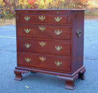 American Centennial mahogany Chest on frame with leather slide