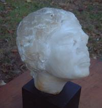 Carved Alabaster Sculpture of a African woman by Smith