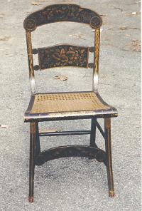 American Hitchcock chair with button back