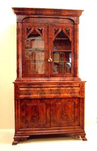 J J Meeks American Empire Secretary Desk NY c 1836