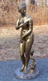 French bronze of a nude woman c1900