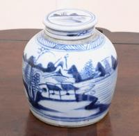 Antique Chinese Canton Ginger Jar c1800