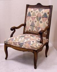 Antique French Fruit Wood Arm Chair c1800