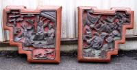 Antique Pair of Chinese wood Corbels c1850