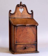 Antique French Walnut Spice Box c1800