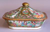 Chinese export Rose Medallion porcelain serving dish c1880