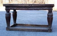 Antique Elizabethan oak dining draw table c1600