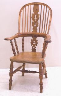 Antique English Yew wood arm chair c1790