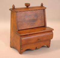 Period French fruitwood sewing utencils box