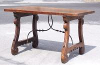 Early Spanish walnut dining table 1630 to 1680