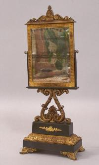 Early French shaving mirror c1820