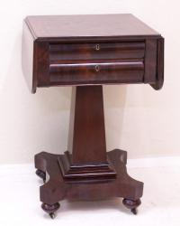 Period American Federal Empire work table c 1825