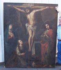 Crucifixion of Jesus Christ oil painting 18th century
