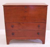 Early American blanket chest with red paint c1800