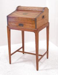 Antique camphorwood Captains desk c1820 to 1840