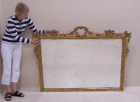 Antique French wall mirror with floral swags c1900