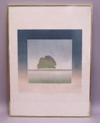 French Artist Jean Solombre Modern Landscape Lithograph