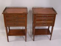 Century Furniture Company pair mahogany bedside tables c1920