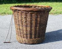 Antique French willow market basket c1870