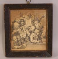 William Hogarth print in original frame c1794