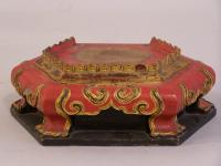 Antique Chinese carved pedestal stand c1850