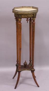French marble top plant stand c1880