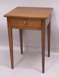 American country Hepplewhite cherry bedside table c1810