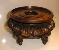 Antique Chinese carved wood Vase stand