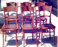 Set of six J and J Kohn Vienna bentwood side chairs c1880