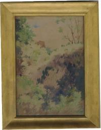 Sidney Burleigh water color landscape