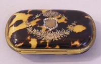 French inlaid mother of pearl silver gold coin box 1890