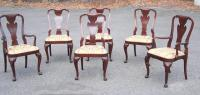 Set of six Georgian style mahogany dining chairs by Baker