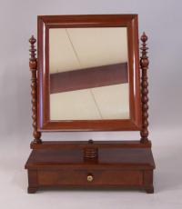 English Victorian mahogany dresser mirror c1875