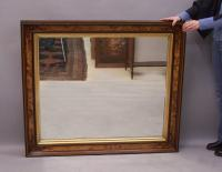 Victorian walnut and birdseye maple hanging mirror c1870