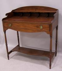 American Sheraton mahogany writing table desk c1820