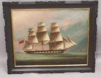 China trade Southern Cross of Liverpool oil on canvas c1857