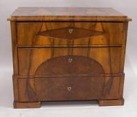 Biedermeier Austrian four drawer fruitwood chest c1800