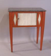 French tambour door stand in original paint c1900