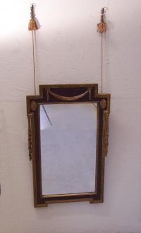 American Federal style hanging wall mirror with swags