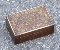19th Century Middle Eastern Jewelry box with inlay c1880