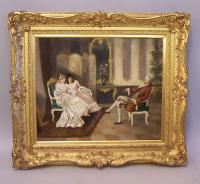 A Marchand French oil painting on canvas c1900