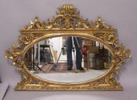 18th century Italian wall mirror in original gold leaf
