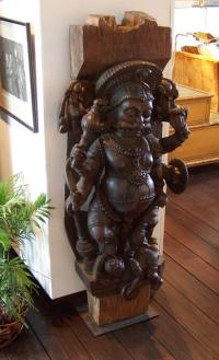 18th century Temple wood carving from India