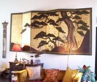 A very fine six panel Japanese palace screen 18th c